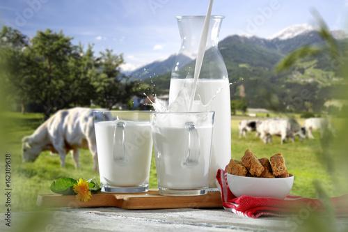 Plakat plusk mleka