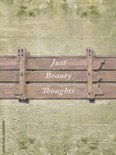 Foto-Tapete - Shabby Chic Background with Letters Quote (von danflcreativo)