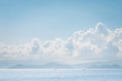 Cloudscape and ocean in sunny day