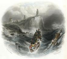 Tynemouth Lifeboat. Date: Circa 1840