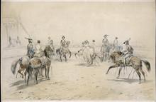 Horseback Quadrille. Date: 19th Century