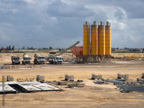 Oil and Gas Construction, Egypt, Delta - Buy this stock photo and