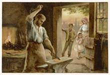Village Blacksmith. Date: Circa 1880