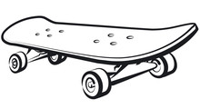 Illustration Of Skateboard