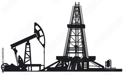 Fotografia  oil drilling derrick