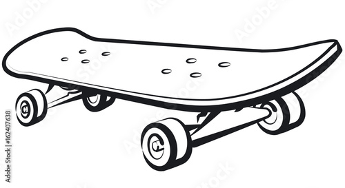 illustration of skateboard