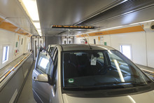 Car In Channel Tunnel Train Fr...