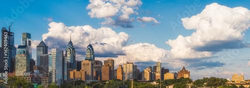 Deurstickers Eiffeltoren Philadelphia skyline in daytime