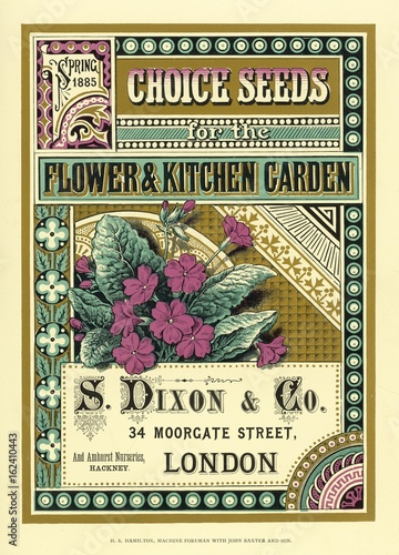 Valokuva  S Dixon - Co seed catalogue. Date: 1885