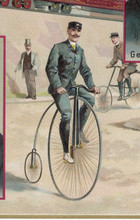 Penny Farthing Colour. Date: Circa 1880