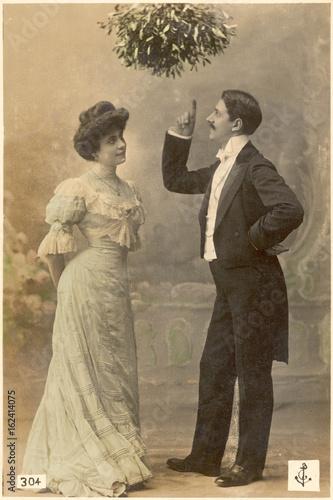 Poster  Mistletoe lecture  c. 1900. Date: circa 1900