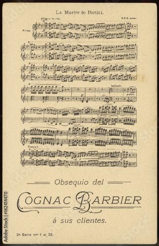 Auber Score - Muette. Date: 19th century Wallpaper Mural