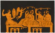 Greek Banquet  Courtesan. Date...
