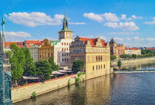 Fotografie, Obraz  View of Prague and Vltava river in summer.Czech Republic