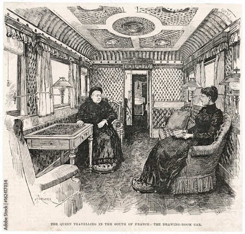 Victoria's Rail Carriage. Date: 1892 Canvas Print