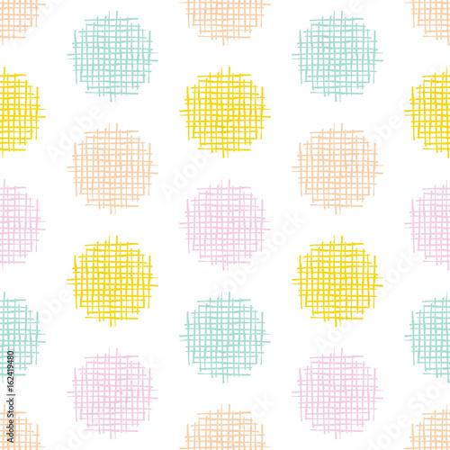 Fotografie, Obraz  kbecca_vector_crosshatch_dots_pattern_seamless_tile