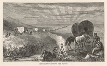 Crossing The Plains 1869. Date: 1869