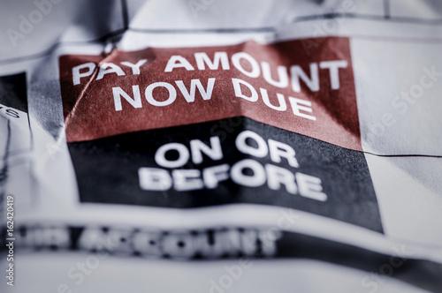 Fotografering  Consumer Credit Debt Payment Now Due Crumpled Notice