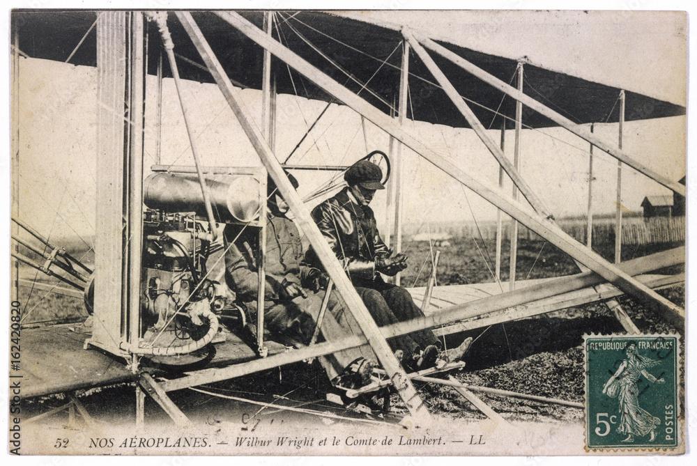 Fototapety, obrazy: Wilbur Wright - Plane. Date: 1909