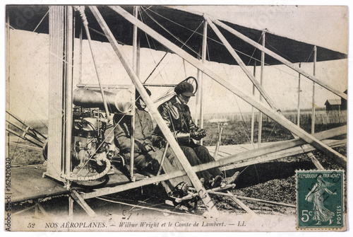 Wilbur Wright - Plane. Date: 1909 Canvas Print