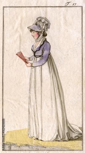 Costume - Muff - 1799. Date: 1799 Canvas Print