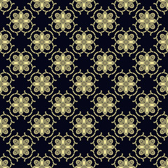 Fototapeta Seamless vintage wallpaper pattern. Ornamental decorative background. Vector template can be used for design of wallpaper, fabric, oilcloth, textile, wrapping paper and other design