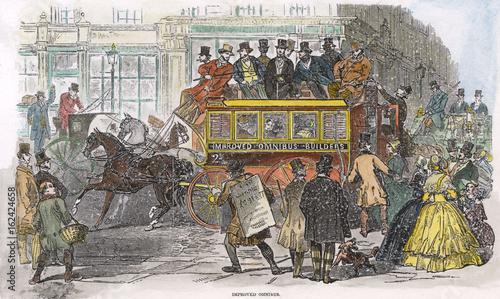 Fotografie, Obraz Adams Improved Omnibus. Date: 1847