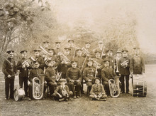 Brass Band Photo 1900. Date: C...