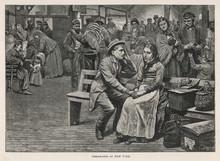 Immigrants At Ellis Island  New York    . Date: 1880