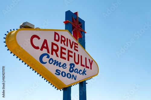 Plakat Witamy w bajecznym znaku Las Vegas, Nevada