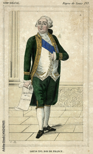Photo Louis XVI (Cost Hist). Date: 1754 - 1793