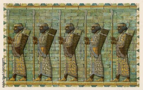 Fotografie, Obraz Persian Bodyguard. Date: 7th - 4th century BC