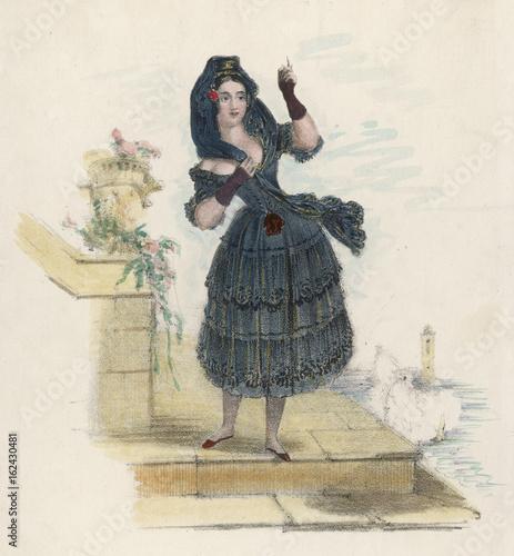 Photo  Mme Vestris - Susanetta. Date: 1797 - 1856