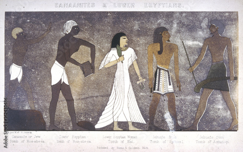 Ancient Egyptian Costume. Date: circa 3000 BC Canvas Print