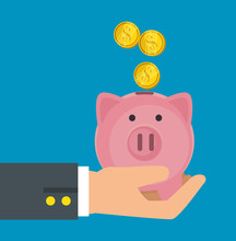 Save Money Concept Piggy Bank ...