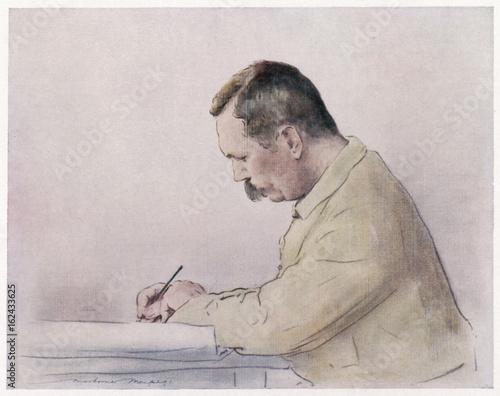Conan Doyle - Menpes 1900. Date: 1859 - 1930 Wallpaper Mural
