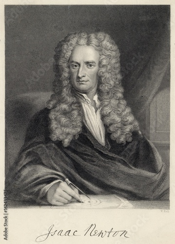 Sir Isaac Newton  English mathematician. Date: 1680s Wallpaper Mural