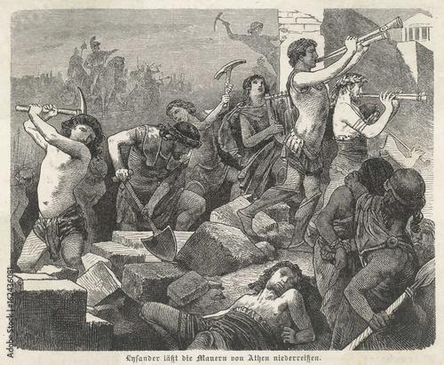 Photo Lysander Destroys Athens. Date: 404 BC