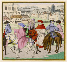Canterbury Pilgrims. Date: Lat...