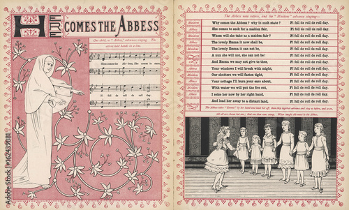 Photo Here comes the abbess  rhyme and music. Date: 1886