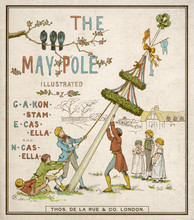 Raising The May Pole. Date: 1882