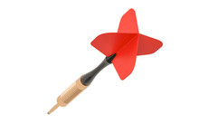 Red Dart Closeup, 3D Rendering