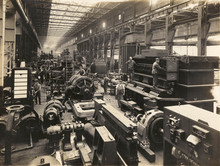 Factory Interior - Circa 1900. Date: Early 20th Century