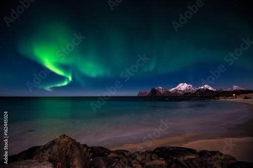 Poster Antarctique Aurora Borealis