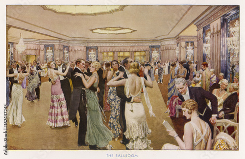 Dance at the Dorchester. Date: 1931 Wallpaper Mural