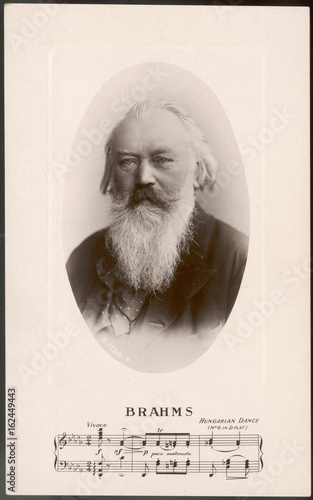 Fototapeta Johannes Brahms  German composer. Date: 1833 - 1897