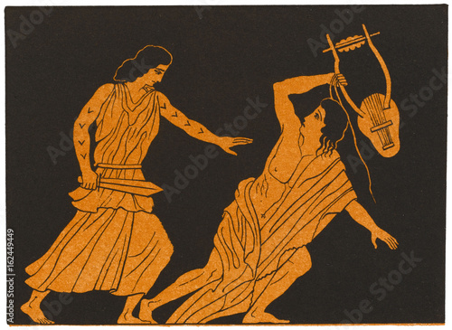 Photo  The death of Orpheus in Greek Myth