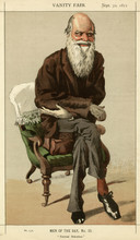 Charles Darwin  Caricatured In Vanity Fair. Date: 1871