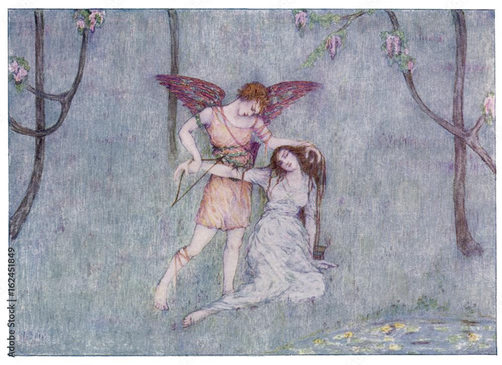 Fototapety, obrazy: Eros - Psyche. Date: 1914