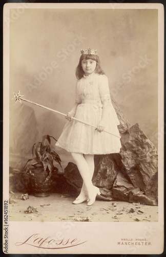 Photo  Fairy Fancy Dress Photo. Date: 1880s